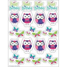 Owl Pal Bday Val Stickers