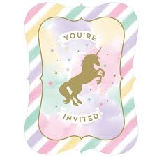 Unicorn Sparkle Invite
