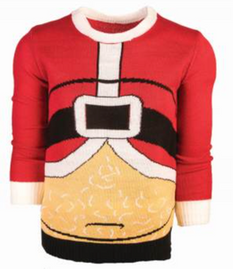 CHRISTMAS SWEATER FAT SANTA LARGE