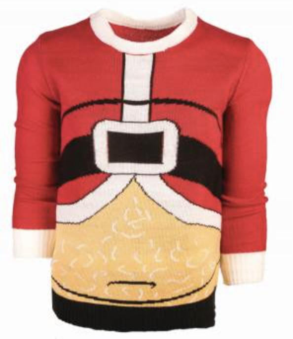 CHRISTMAS SWEATER FAT SANTA XLARGE