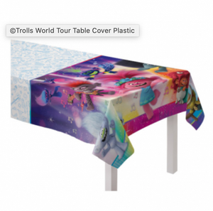 ©Trolls World Tour Table Cover Plastic