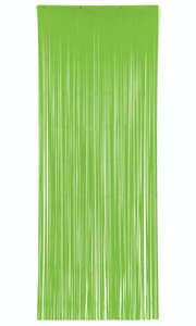 Bright Lime Green Foil Door Curtain