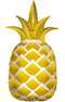 "44"" Golden Pineapple Shape Balloon #310"