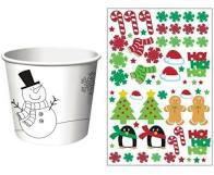 Christmas Treat Cups w-Stickers 6ct