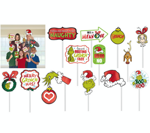 Traditional Grinch Photo Prop Kit