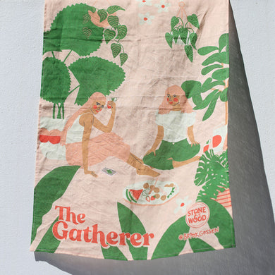 The Gatherer tea towel