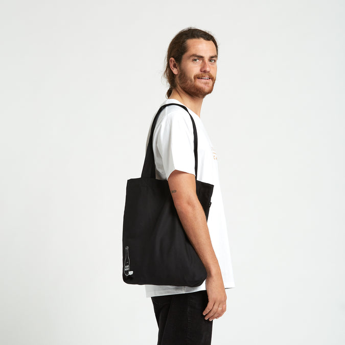 Black Bottle Tote Bag