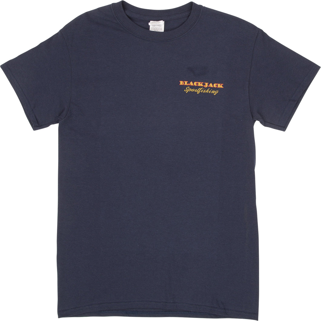 Blackjack Sportfishing Logo T-Shirt - Shortsleeve (Navy)