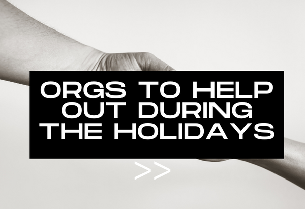 Organizations that help during the holidays, photos of helping hands