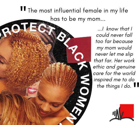 DK art collage and quote: Protect Black Women