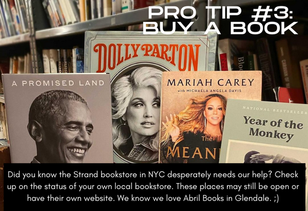 Pro Tip #3 Buy a Book, photo of books