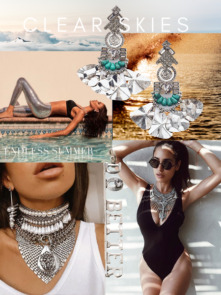 Clear Skies Mood Board photo collage