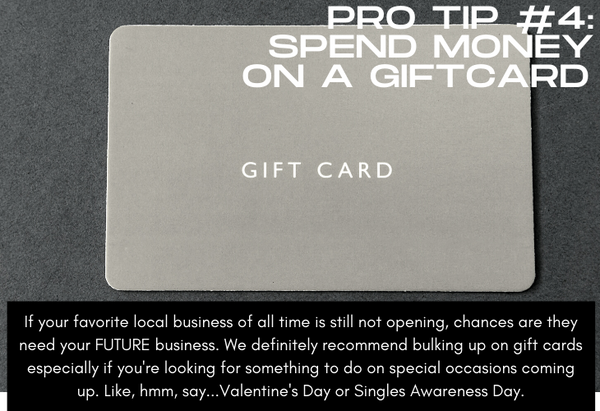 Pro Tip #4 Spend Money on a Gift Card, image of gift card
