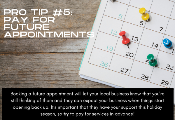 Pro Tip #5 Pay for Future Appointments, photo of calendar