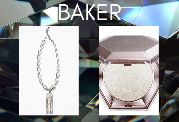 Pairing: DYLAN LEX Baker necklace with pressed powder compact