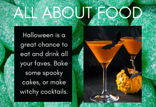 Halloween food tip and cocktail image