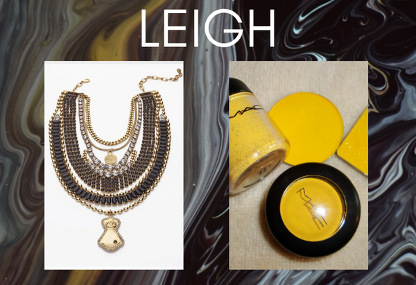 Pairing: DYLAN LEX Leigh necklace with yellow MAC makeup