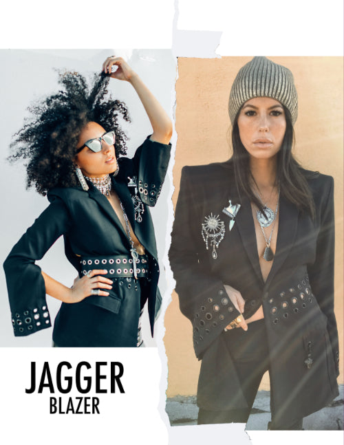 DYLAN LEX Jagger blazer with two lifestyle images