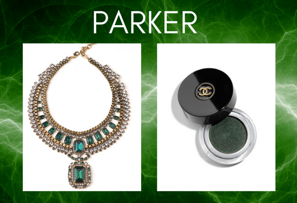 Pairing: DYLAN LEX Parker necklace with Chanel makeup compact