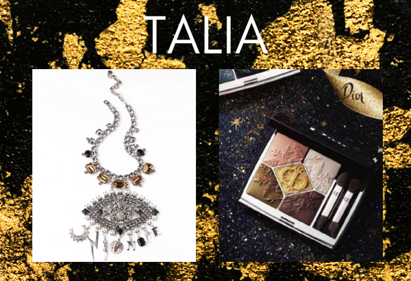 Pairing: DYLAN LEX Talia necklace with Dior makeup compact