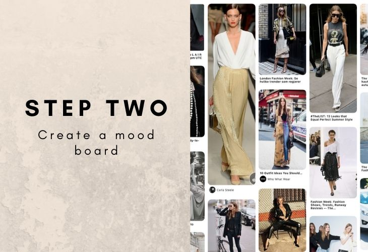 Step Two: Create a Mood Board with example
