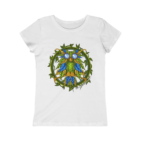 Girls Earth Owl Tee (Junior Fit) - Daniel Curran Art