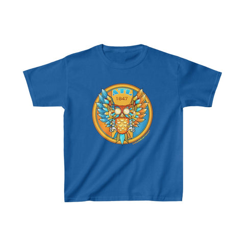 Kids Atlanta Blue Owl Heavy Cotton™ Tee - Daniel Curran Art