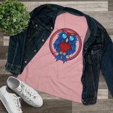 Ladies Blue Ribbon Owl Tee (Relaxed Fit)