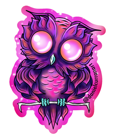 Baby Heart Owl Sticker - Daniel Curran Art
