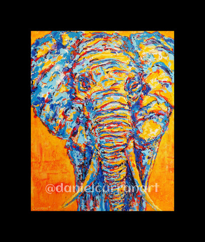 "8""x 10"" Elephant (Matted)"