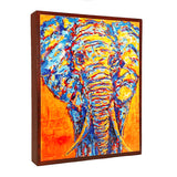 Elephant on Wood Panel