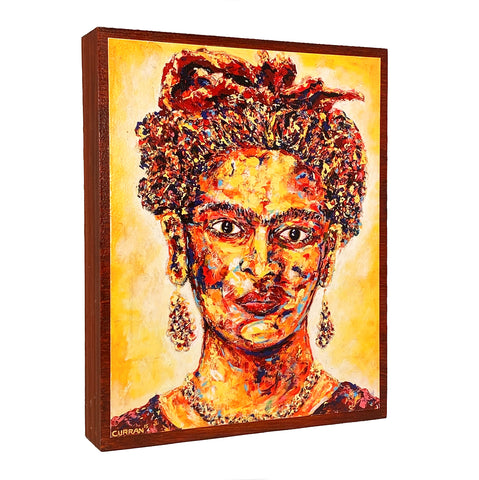 Frida on Wood Panel
