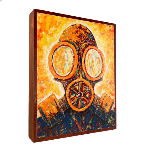 Toxic Fumes on Wood Panel