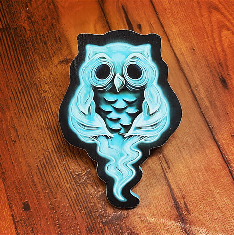 Ghost Owl Print on wood (Limited Edition) - Daniel Curran Art