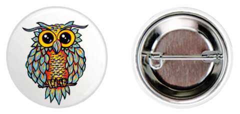 White Owl Button