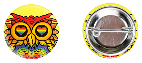 Pride Owl Button