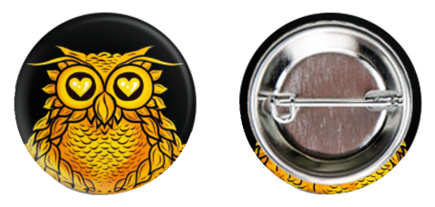 Gold Owl Button