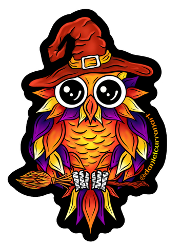Witch Owl Sticker