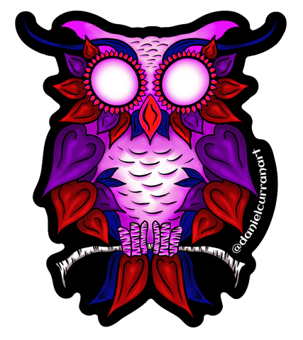 Heart Owl Sticker - Daniel Curran Art