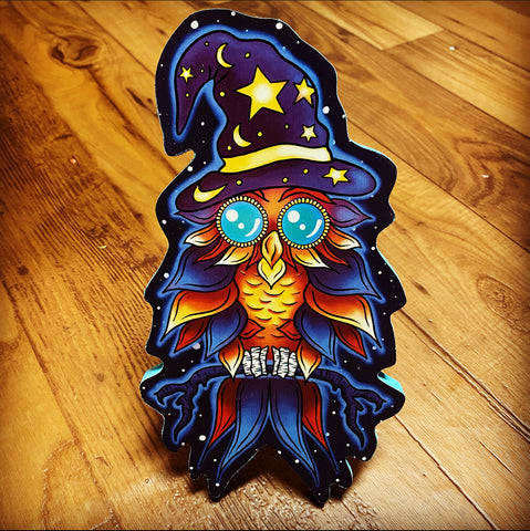 Wizard Owl Print on Wood (Limited Edition)