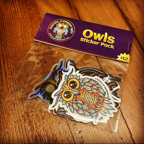 Owl Sticker Pack - Daniel Curran Art