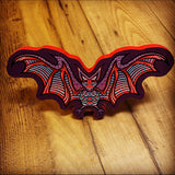 Bat Print on Wood