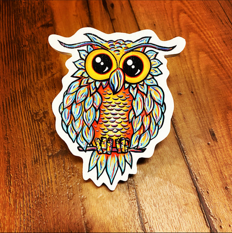 Original Owl Print on wood