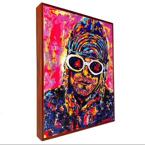 Kurt on Wood Panel