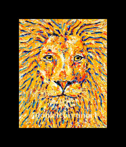 "8""x 10"" Lion (Matted)"