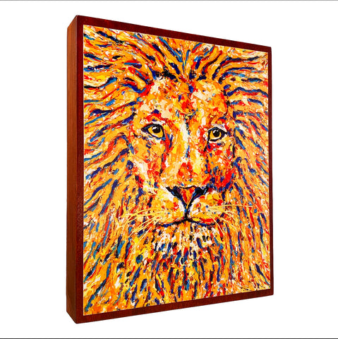 Lion on Wood Panel (Limited Edition)