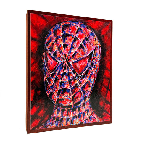 Spiderman on Wood Panel