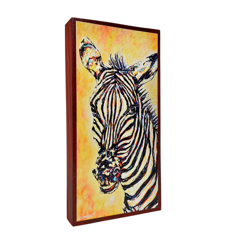 Zebra on Wood Panel (Limited Edition)