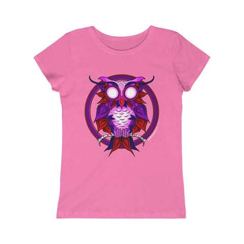 Girls Heart Owl Tee (Junior Fit) - Daniel Curran Art