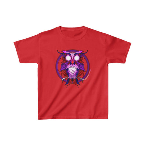 Kids Heart Owl Heavy Cotton™ Tee - Daniel Curran Art